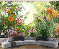 Wallpapers 3d Po Wallpaper Custom Mural Watercolor Hand Painted Flowers And Woods Home Decor In The Living Room For Walls 3 D