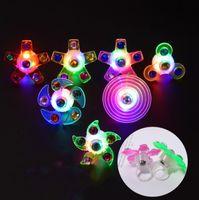 سوق الليل LED قفازات اللعب الصغيرة الإبداعية إصبع الطرف أعلى غزل الأطفال حلقة سوار الكبار الليلي الليفي الأدوات