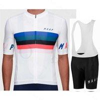 Maap Cycling Jersey Set Hombres Verano Manga corta Tops Transpirable Bicicleta Ciclismo Ropa BIB Shorts Deporte WEA Maillot 211006