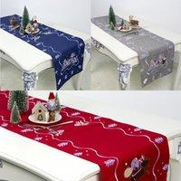 크리스마스 안티 먼지 테이블 천으로 커버 직사각형 주방 책상 수 놓은 러너 거실 다이닝 식탁보 홈 장식 매트 패드