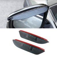 For Renault Kadjar Talisman Captur Car Side Rear View Mirror Rain Visor Carbon Fiber Texture Eyebrow Sunshade Snow Guard Cover