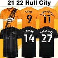 21 22 Hull Şehir Bernard Macennis Erkek Futbol Formaları Honeyman Taces Lewis-Potter Wilks Emmanuel Ev Uzakta Kısa Kollu Futbol Gömlek