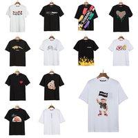 2021 Bear Neuddy High Street Fashion Angel Motif des hommes Lâche à manches courtes imprimées Femmes Couple Robe De Coton Palmatiques T-shirt Pa Angles