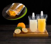 17OZ 500ML Stand-up Plastic Drink Packaging Bag Spout Pouch for Beverage Liquid Juice Milk Coffee 200-500ml 496