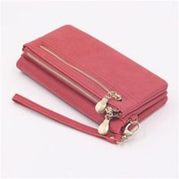 Clutch Bag New Style Ladies Large-capacity Soft Wrist Women Mobile Phone Genuine Leather Single Zipper Top Quality Long Purse Card Simple Retro Favorite Wallet