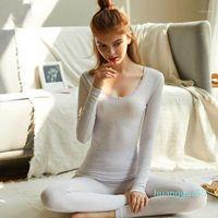 Fashion Seamless Warm Long Johns Ladies Slim Underwear Sets Women Tunic Winter Thermal Underwear1