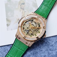 2021 Luxury Men's Watch, Mechanical Movement, Waterproof 45mm large dial, Top AAA The green band gift