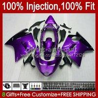 Iniezione del corpo per Honda Blackbird New Purple CBR 1100 1100XX CBR1100 XX 96 97 98 99 00 01 26NO.115 CBR1100XX 2002 2003 2004 2005 2006 2007 CBR 1100CC 96-07 carena