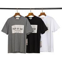 21SS 신의 원천에 대한 두려움 Essentials Mens 디자이너 티셔츠 클래식 문자 짧은 소매 안개 남성 S-XL 899 용 고품질 여성 티셔츠