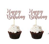 Happy 16th Birthday Cake Topper Bachelorette Accessori per feste Sposa per essere Boy o Girl Baby Doccia Decorazioni Decorazioni Decor Forniture EWB9578