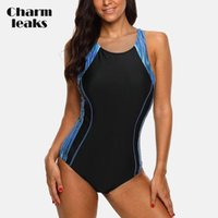 One-Piece Suits Charmleaks Ladies One Piece Sports Swimsuit Women Swimwear Bikini Backless Beach Wear Bathing Monokini