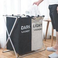 Laundry Bags Collapsible Basket Rack Dirty Organizer Large Waterproof Hamper For Separating Clothes Storage Box