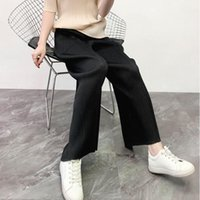 Women's Pants & Capris LANMREM Can Ship High Quality Fold Directly Casual Trousers Women 2021 Spring Summer Waist Wide Leg With Pocket YH913