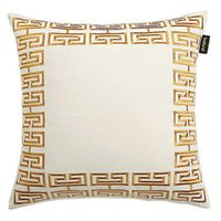 Luxury designer pillow case high quality gold and silver embroidery geometric pattern cushion cover 45*45cm use for home decoration Christma