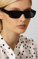 2020 سخونة Euro-am Fashionshow CL40087 تصميم الأزياء النظارات الشمسية للجنسين uv400 الذكية ضيقة مستطيلة المعكرون بلانك fullrim fullset حالة