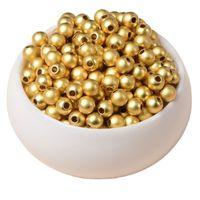 1000 adet / takım Altın Gümüş Renk Alaşım Uzay Gevşek Boncuk 3mm Boncuk DIY Kolye Takı Yapımı Için Takı 1037 Q2