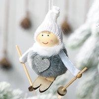 Natal casa decoração bonito anjo esqui dolls navidad pingente pingente de natal árvore ornamento ano novo presentes para crianças owe9600