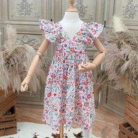 Girl's Dresses Toddler Girl Summerl Clothes 2021 Korean Baby Vestidos Carino Floral Dress Clothing For Kids Children 2-7years