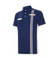 2021 F1 Formula Bir Patlayıcı Yarış Takım Elbise Kısa Kollu Yaka T-Shirt Polo Gömlek Hızlı Kurutma Özelleştirilmiş Takım Workwear