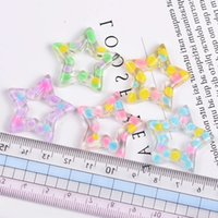 2021 fun toys5pcs Charms Dot Star Slime Accessories Beads Making Supplies With Drawstring Pouch For DIY Crafts Scrapbookifor children