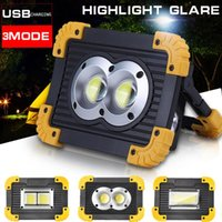 Portable Lanterns 100W Led Spotlight 30000lm Super Bright Work Light Rechargeable For Outdoor Camping Lampe By 2*18650