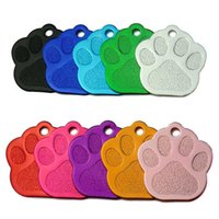 Wholesale 100Pcs Custom Dog Tags Personalized 3D Pet Dog Collar Accessories Engraved Cat Puppy ID Tag Paw Name tag Pendant plate H0914