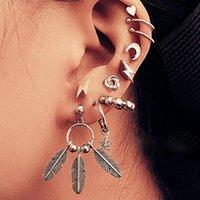 Hoop & Huggie Vintage Gold Animal Drop Set For Women Small Butterfly Cross Star Moon Dangle 2021 Trendy Jewelry Gift Earrings