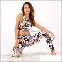 Yoga Exercise Wear Athletic Outdoor Apparel & Outdoorsyoga Outfits Style 2 Piece Bra+Pants Womens Tracksuit Sportswear Sports Suit Set Gym F