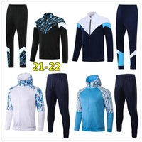 2021 Erkek Futbol Eşofman Tam Zip Ceket Hoodie 20 21 Futbol Eğitim Takım Elbise Koşu Survetement de Ayak Chandal de Futbol