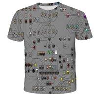 T Shirtsummer Popolare gioco Minecraft My World Digital Stampato Cartone animato per bambini Carino Carino T-shirt 3D manica corta