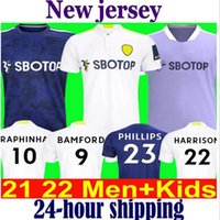 21 22 Leeds 축구 유니폼 United 2021 2022 T Roberts Hernandez 해리슨 Bamford Costa Alioski Clarke Phillips 축구 셔츠 남성 키즈 키트 유니폼 멀리