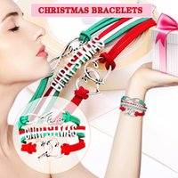 Charm Bracelets 2021 Christmas Letter Multi-layer Woven Bracelet Gift Small Gifts Ladies Heart Multicolor Charms