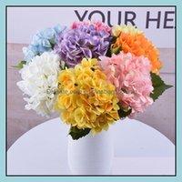 Decorative Deco El & Garden 11 Colors Artificial Flowers Hydrangea Bouquet For Home Flower Arrangements Wedding Party Decoration Supplies 28