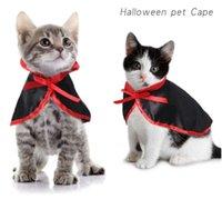 60 adet / grup Cadılar Bayramı Cape Vampire Pelerin Kedi Kostümleri Sevimli Cosplay Yavru Kawaii Pet Giysileri Köpek Aksesuar Toptan