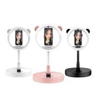 Photographie de téléphone portable Accessoires la plus haute vente G2 LED Bague Lumière de 10 pouces Selfie Miroir Lampe pliante Trépied d'éclairage photographique