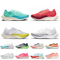 Nike Air Zoomx Vaporfly Next% 2 Scarpe da corsa atletiche da jogging Donna Uomo Vapor Fly Dark Sulphur Stadium Verde Bianco Hyper Jade Scarpe da ginnastica Sneakers