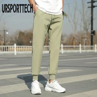 Men's Pants Fashion Summer Men Trousers Elastic Business Thin Long Male Straight Casual Silm Lightweight Plus Big Size