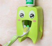 Home Automatico Dentifricio Dentifricio Distributore Denti denti Portaspazzolo per il bagno Dentifrutti domestico Parete Rack Back Set Dentifricio Squeezer GWA5309