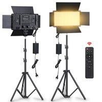 Teste flash LED Video Light Panel Bicolore dimmerabile Cri95 con supporto per Pografia Studio Prendendo PO YouTube Fiemming Streaming live