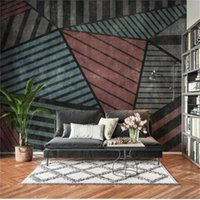 Custom 3D Po Wallpaper Mural Room Sofa TV Backdrop Living Nordic Abstract Geometric Light Luxury Picture Wallpapers