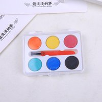 Gift Sets 2021 Children's Beginner Color Drawing And Painting Tool 6-color Mini Solid Non-toxic Paint Art Supplies CN(Origin)