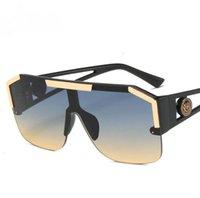 Óculos de sol 2021 Moda Luxury Marca Designer Quadrado Homens Womenthi Quadro Vidro Pessoas UV400 Macho Celebridade Bla óculos de sol