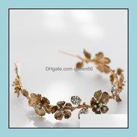 Saç Jewelryhair Klipler Barrettes Barok Vintage Headpieces Bantlar Çiçek Yaprak Tiaras Gelinler Parti Kristal Combs Pins Gelin Takı Biz Biz
