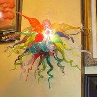 المصابيح الحديثة متعدد الألوان الصمام الخفيفة الداخلية للمنزل جدار الشمعدان البيت فندق الديكور مصباح اليدوية المنفوخ الزجاج النمط الأوروبي مورانو 60 بواسطة 60cm واسعة وعالية