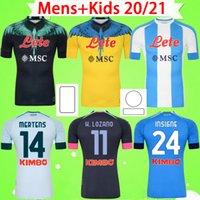 # 10 Maradona 2020 2021 Napoli Soccer Jerseys Home Away Third Maglia da calcio Napoli 20 21 MANOLAS INSIGNE LOZANO CALLEJÓN MILIK Mens Kids Kit