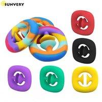 SNAPPERZ Squeeze Unzip Hand Grip fidget toys simple dimple tie dye popit Sensory for Adult Squishy Arrow Pinch