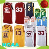 Kevin 35 Durant NCAA Campus Bär UCLA Basketball-Trikots Russell 0 Westbrook 13 Harden Reggie 31 Miller College Herren Wade 33 Allen 3 Iverson 2021
