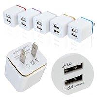 유니버설 미니 2.1A 듀얼 USB 충전기 Phnom Penh 전기 도금 휴대 전화 충전기 색상 스마트 폰 화웨이