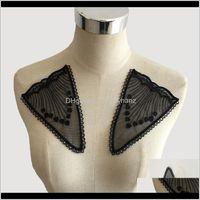 개념 도구 고품질의 Fabic 자수 Applique Organza DIY 레이스 칼라 바느질 웨딩 드레스 바느질 바느질 묶음 액세서리 1 QYLHM XP50A
