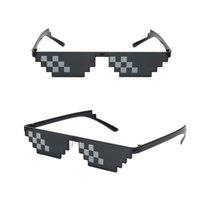 Party Masks Funny Mosaic Sunglasses Stuff Toy Decorative Glasses Fashionable Women Men Children Black Kid Gift